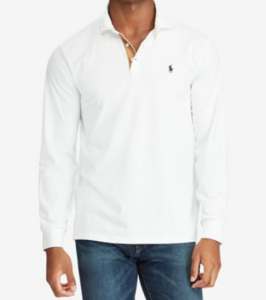 ralph lauren classic fit white polo shirt